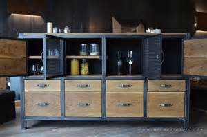 Metal Etageres Buffet Industriel Campagne Chic Micheli Design