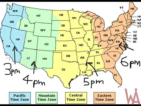 usa time zone with map time zone map of the usa with time different whatsanswer