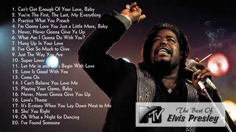 Best Barry White Songs   Barry White's Greatest Hits   Old