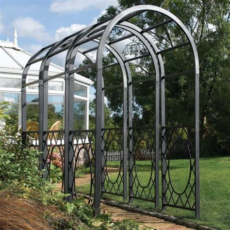 Image Gallery Iron Garden Arch Metal Garden Arches And Pergolas
