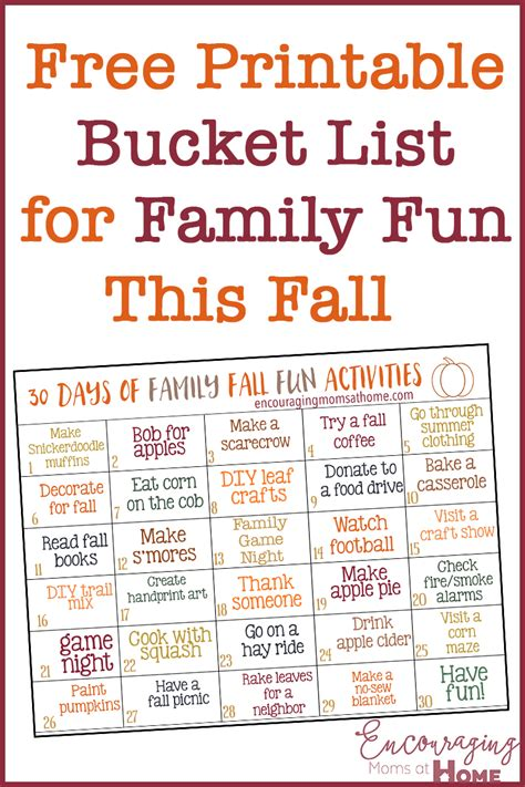 Family Activities by 30 Days Of Family Fall Activities For And Families