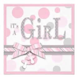 pink gray dots baby shower 5 25x5 25 square paper invitation card zazzle