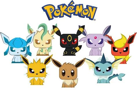 Eevee Papercraft - these papercrafts are mini eevee evolutions the evolution