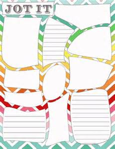 Post It Note Cover Template by 20 Must Home Printables For The New Year
