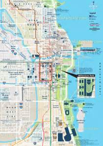 Map Of Chicago by Chicago Top Attractions Map