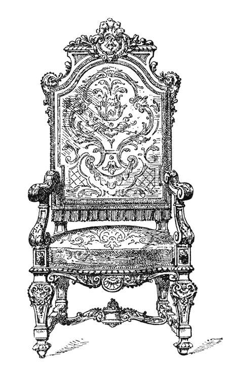 Queen Armchair Free Vintage Image Ornate Chair Clip Art Old Design Shop