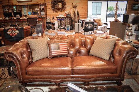Anteks Furniture Dallas by Rustic Brown Leather Teton Sofa At Anteks Furniture Store