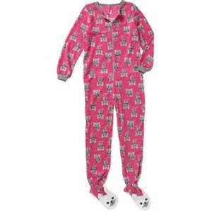 fleece pajama footed sleeper walmart