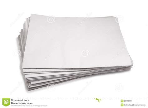 Of Paper - stack of blank white paper stock image image of empty