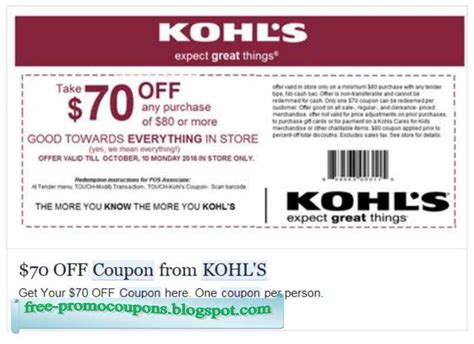Kohls Printable Coupons printable coupons 2017 kohls coupons