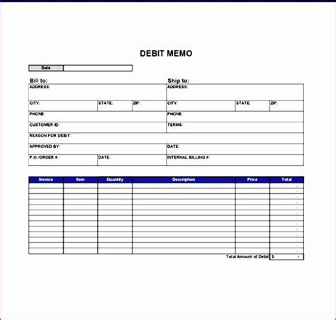 Debit Credit Sle Format 10 credit memo template excel exceltemplates