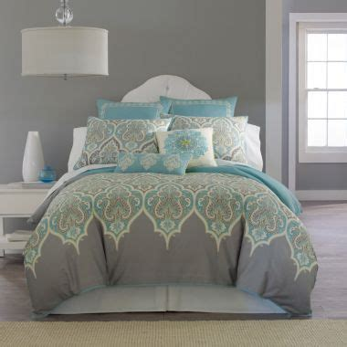 light turquoise comforter kashmir comforter set grey multi homey home pinterest