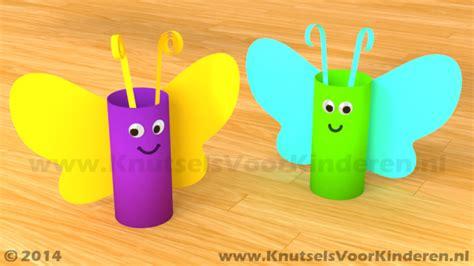 bloemen maken van wc rollen vlinder van wc rol knutsels voor kinderen leuke idee 235 n