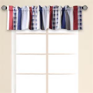 nautical curtain valance greenland home fashions nautical stripe quilted 84