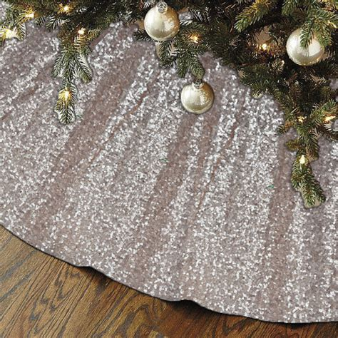 new sequin christmas tree skirt fast ship