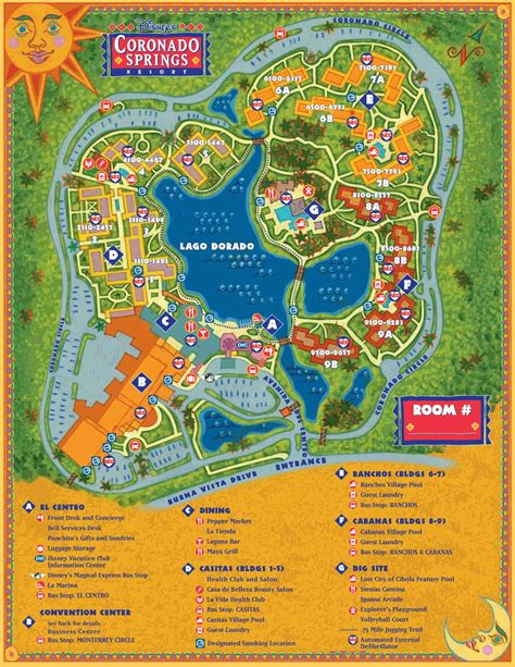 resort map disney s coronado springs resort doctor disney
