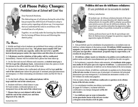 Free Printable Cell Phone Policy Form Generic Cell Phone Policy Template