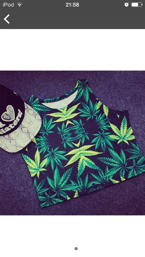 T Shirt Honey Riders Clothing shop 2015 cropped tops green color leaf print