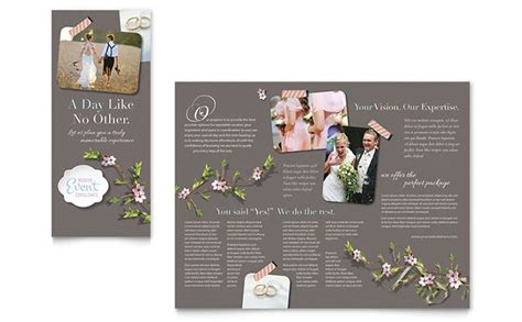 Wedding Brochure Layout by Wedding Planner Brochure Design Template By Stocklayouts