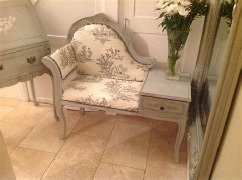 shabby chic vintage telephone seat table painted in annie sloan par
