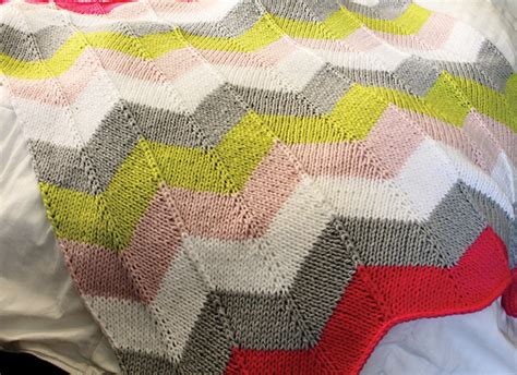 Chevron Baby Blanket Knit Pattern by Chevron Quilt Knitting Pattern A Knitting