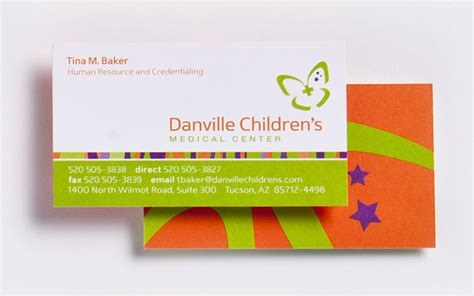 pediatric business card templates danville children s center wheelhouse collective