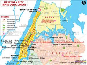 Map Of New York Bronx by 4 Killed As Train Derails In Bronx New York World News