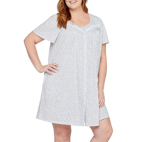 jersey nightgown pattern adonna jersey short sleeve pattern nightgown plus jcpenney