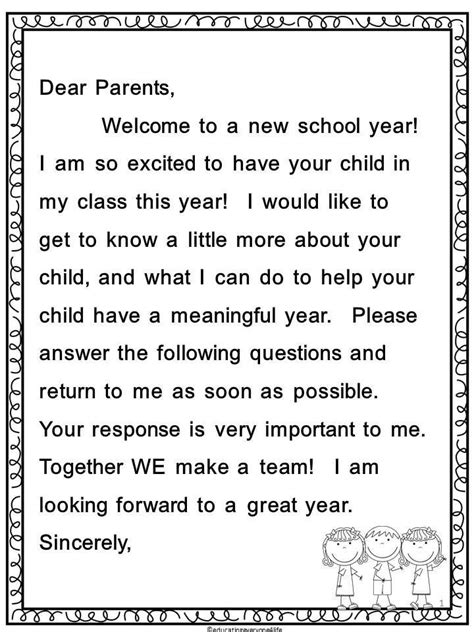 Parent Letter Curriculum christabel nf08 last week of