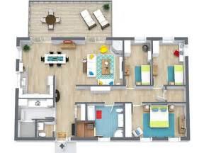 Superior Simple 3d Home Design Software Free Download #3: RoomSketcher-3-Bedroom-Floor-Plans.jpg