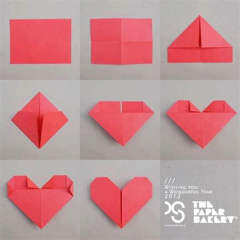 How To Fold Paper Hearts Step By Step - origami using square paper comot