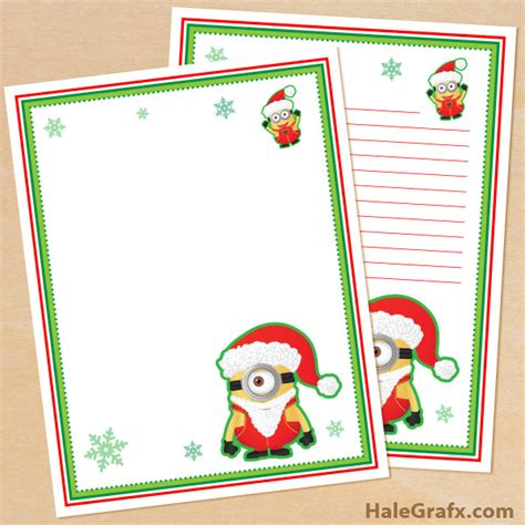 printable minion stationery free printable christmas minion themed stationery