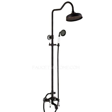 luxury cross handle oil rubbed bronze outdoor shower faucets designer oil rubbed bronze black bathroom shower faucets