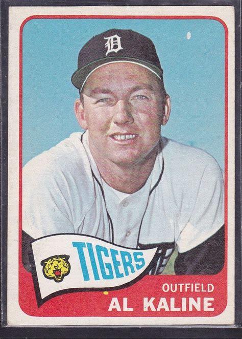 Detroit Tigers Gift Card - 1965 al kaline topps baseball card 130 detroit tigers vintage ebay