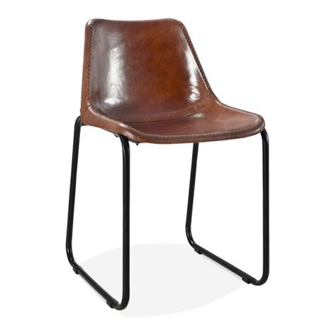 industrial chairs brown leather maxwell metal dining chair industrial