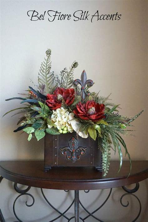 dining table arrangements tuscan decor silk flower arrangement dining table
