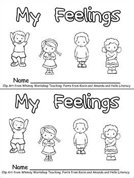My Feelings Emergent Reader for Kindergarten.. All About