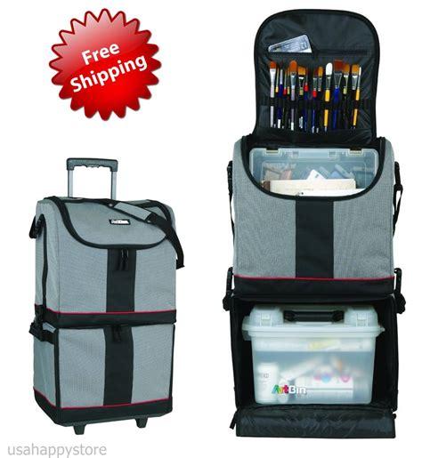 Organizer Cart On Wheels Details About Artbin Supply Bag W Wheels Storage