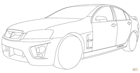 Colouring In Pages Holden Hsv Clubsport Coloring Page Free Printable by Colouring In Pages