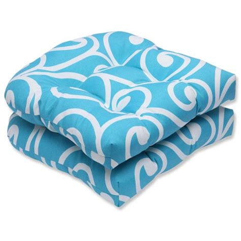 Best Turquoise Wicker Outdoor Seat Cushion, Set Of 2