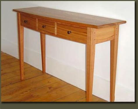 cherry wood hallway table table console entry table handcrafted by