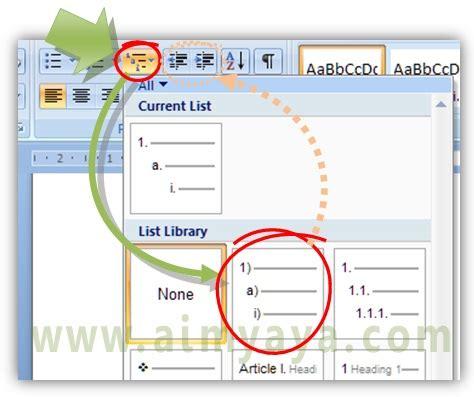 membuat outline di word cara membuat outline multilevel numbering di ms word