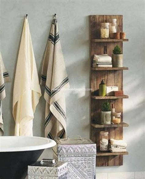 Shelving For Bathroom Recycled Pallet Shelving Ideas Pallet Wood Projects