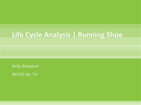 running shoe assessment cycle analysis of a running shoe