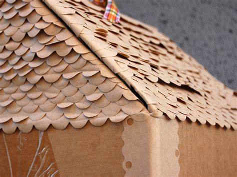 How To Make A Paper Roof - cardboard cuties folk design