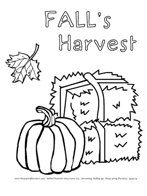 autumn harvest coloring pages preschool leaves worksheets thanksgiving printable