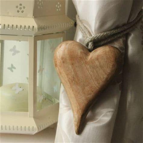 wooden heart curtain tie backs wooden heart curtain tie backs pair only 163 13 00 the