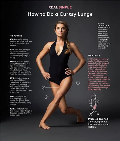 How To Do A Search How To Do A Curtsy Lunge Real Simple