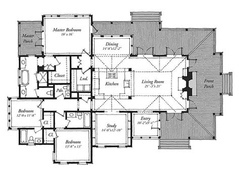 southern living floor plans new tideland print southern living house plans