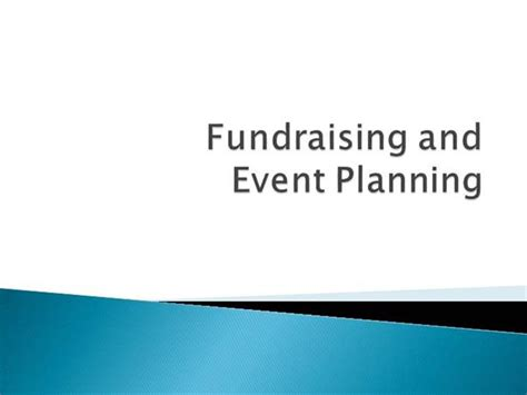 fundraising presentation template fundraising and event planning administration authorstream